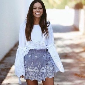 Zara embroidered shorts ❤️ Medium